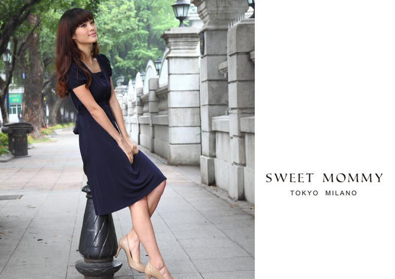 授乳服とマタニティウェアのスウィートマミーがおすすめするシンプルフォーマル授乳服ワンピース