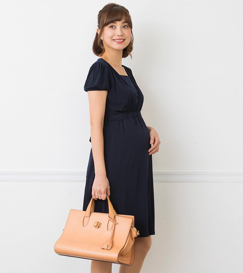 産前産後着回し可能な授乳ワンピース