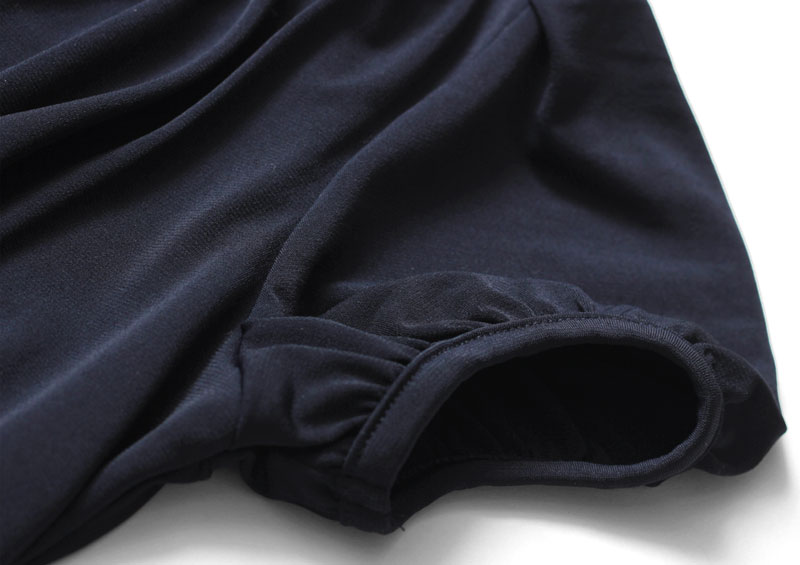 ママワンピース 袖口の拡大図