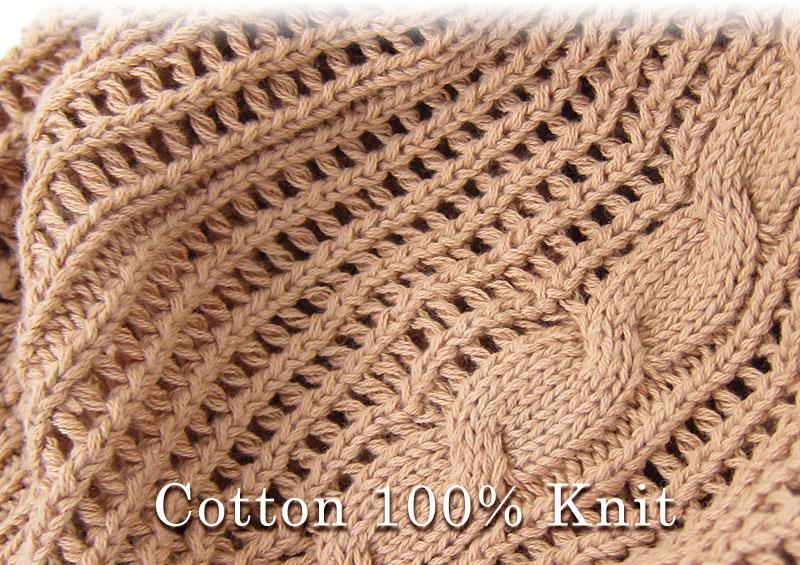 ざっくり編みがおしゃれ! 素肌に優しいコットン100%ニット