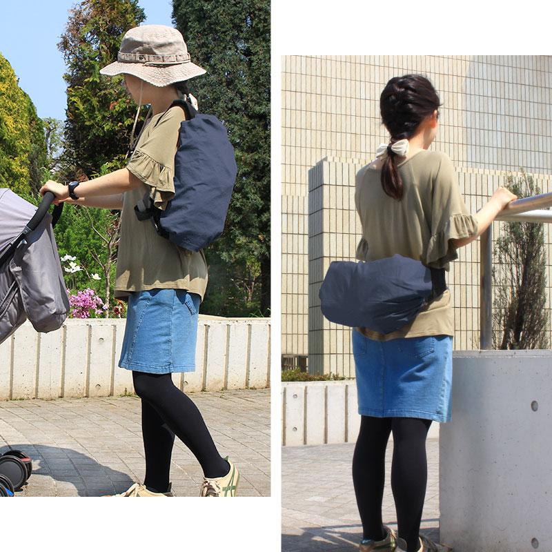 カジュアルな服装にもぴったりの抱っこ紐カバー