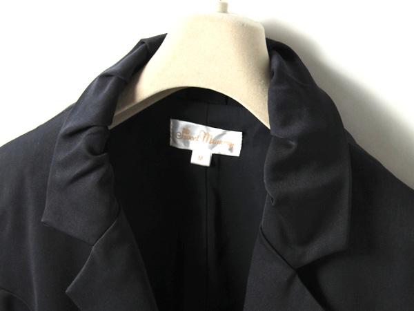 タック入りの襟