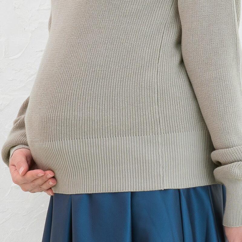 妊娠中のお腹もすっぽり覆って安心