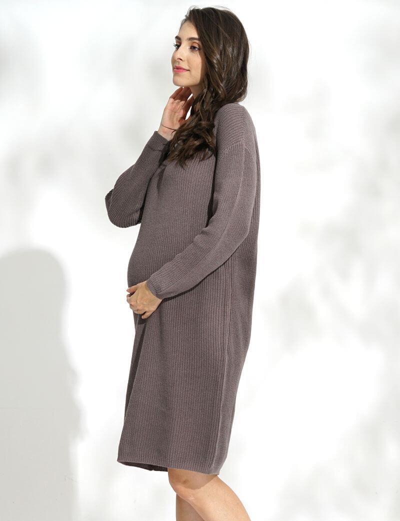妊婦さんのお腹を優しく包むマタニティウェアワンピース