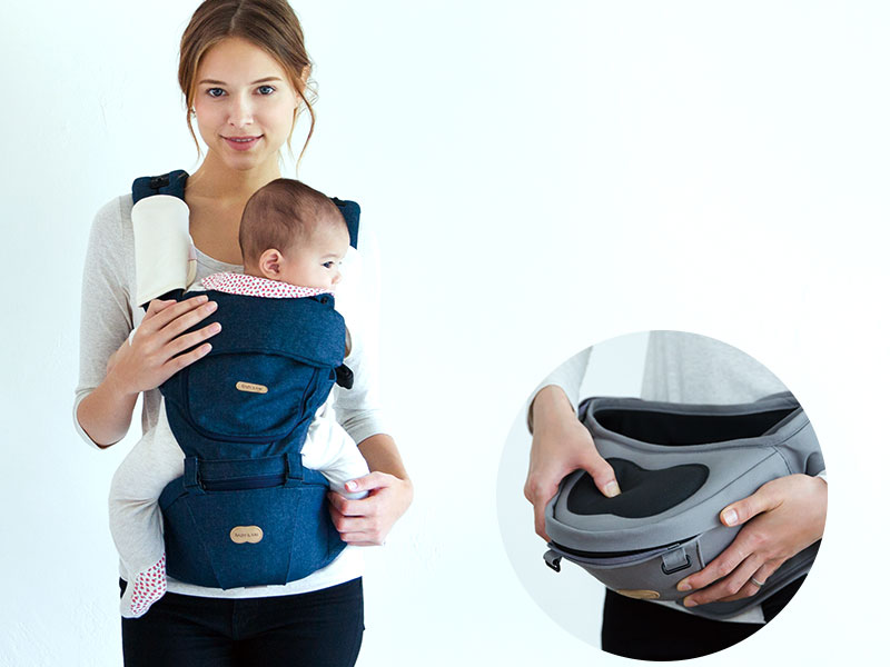 赤ちゃんも楽ちん 柔らかヒップシート