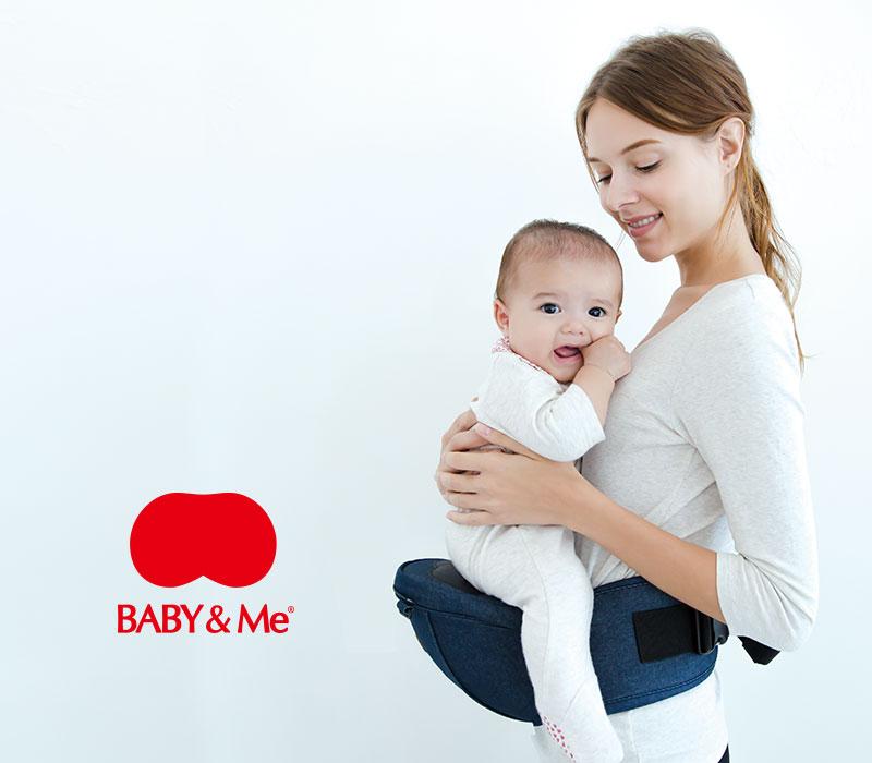 BABY&Me ヒップシートキャリア 抱っこにも おんぶひも