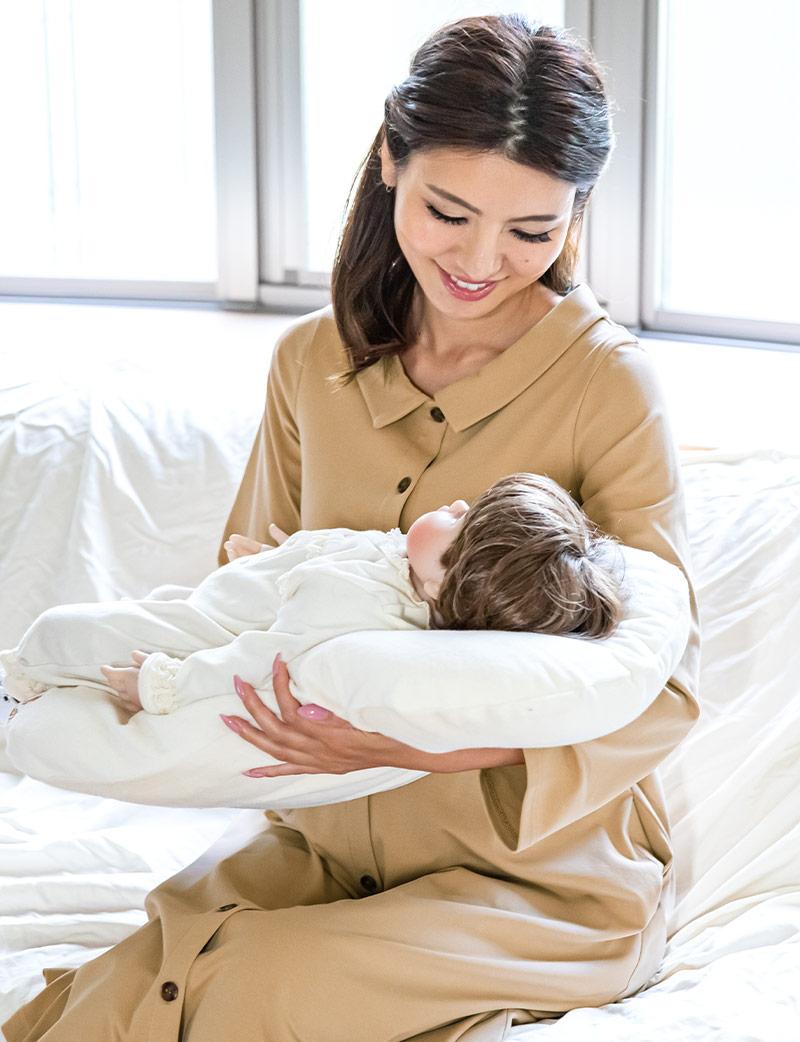 出産 パジャマ 赤ちゃんと一緒のイメージ