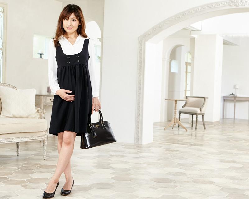 妊娠中からかわいい授乳服ワンピース