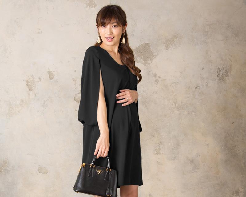 女性らしい印象の授乳服ドレス