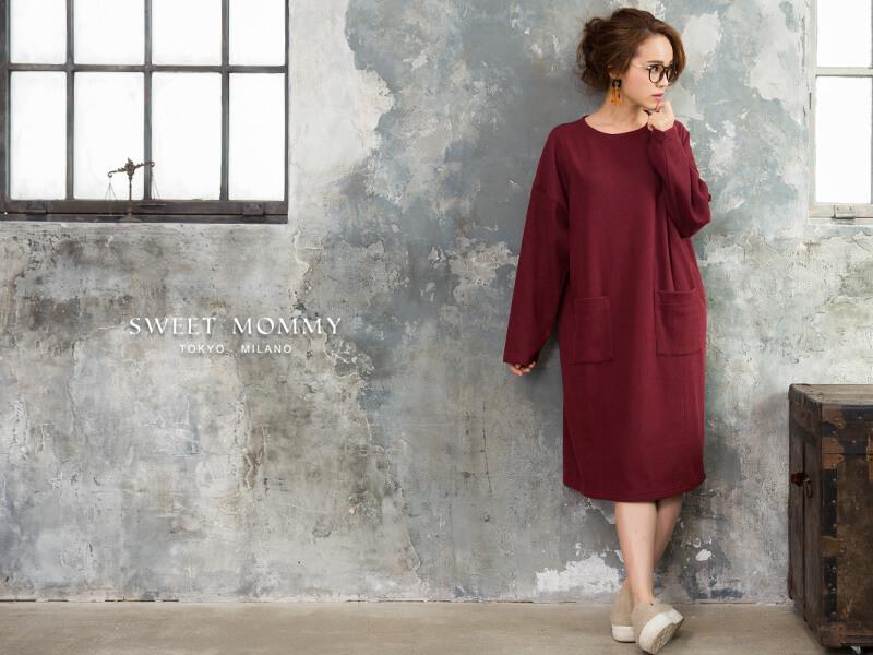 授乳服とマタニティウェアのスウィートマミーがおすすめするミラノリブ授乳服ワンピース