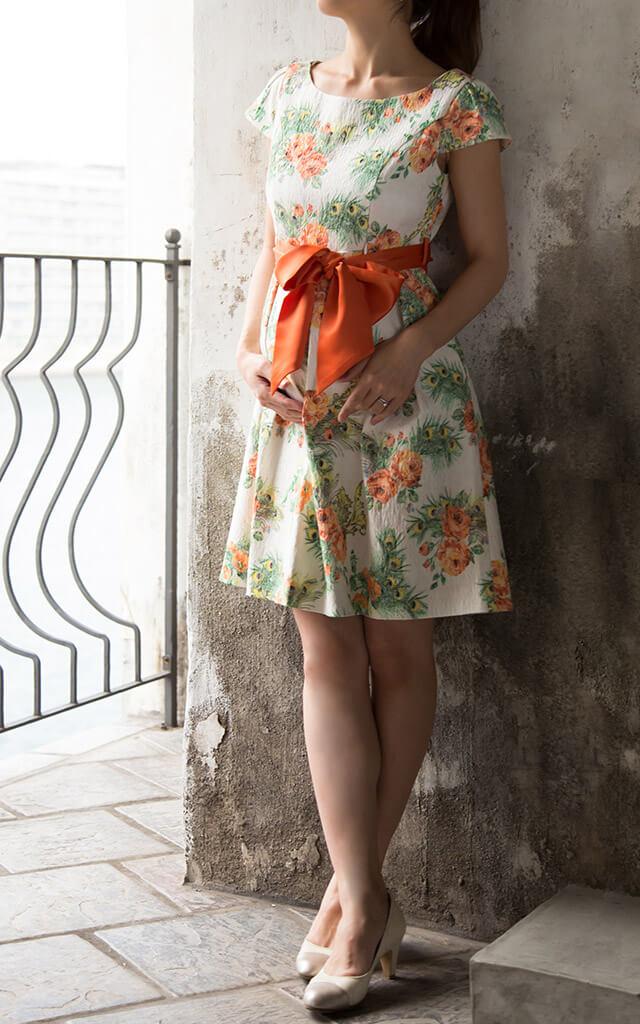 ストレッチジャガード授乳服ドレスのメイン画像