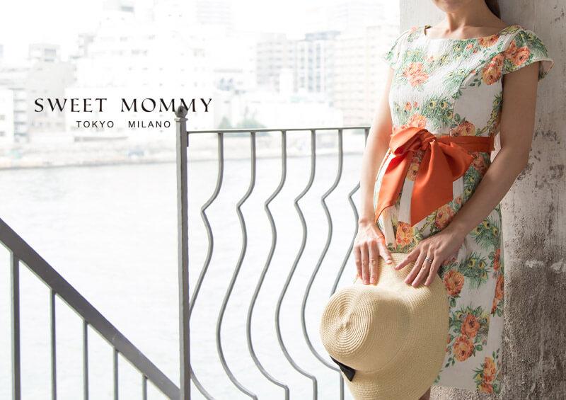 授乳服とマタニティウェアのスウィートマミーがおすすめする華やかプリント授乳服ドレス