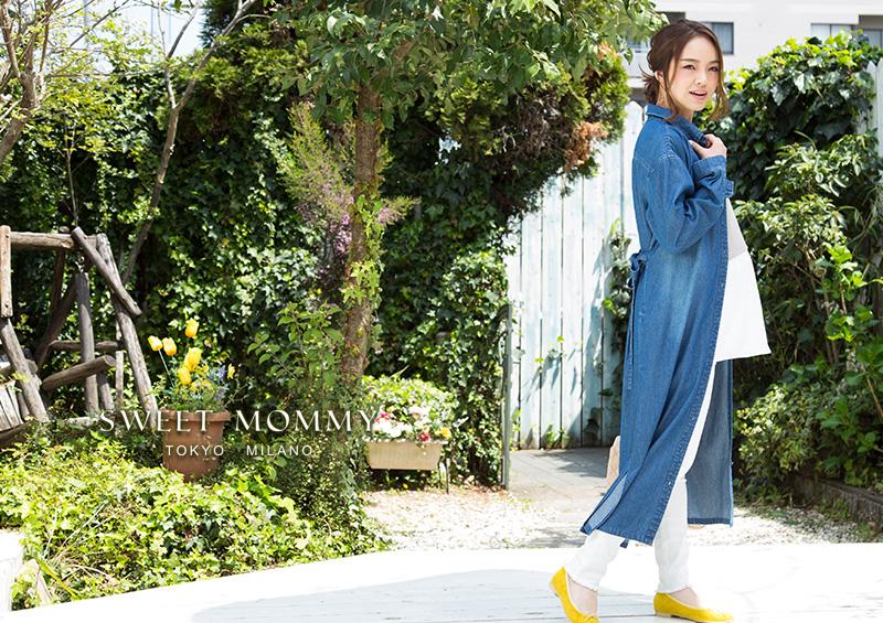 授乳服とマタニティウェアのスウィートマミーがおすすめするカジュアルデニムシャツワンピ