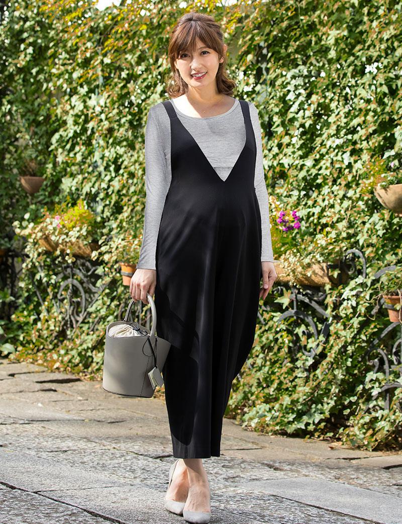 楽してキレイ!産前から産後まで着られる授乳サロペット マタニティサロペット