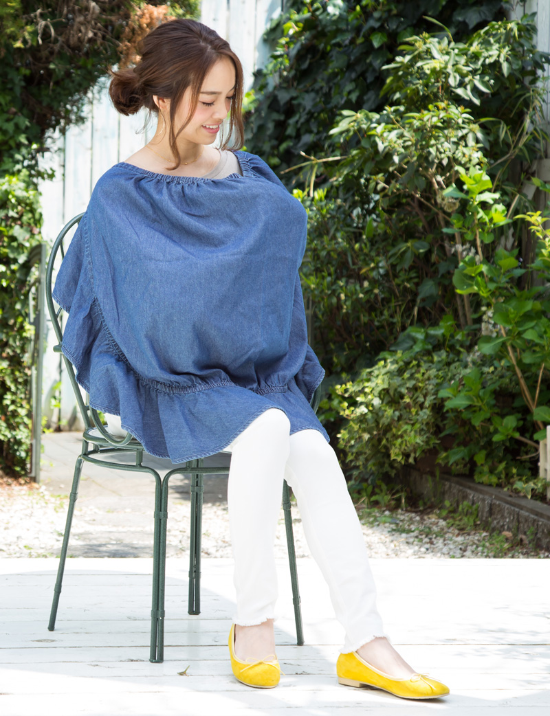 春名亜美ちゃん着用の授乳ケープ