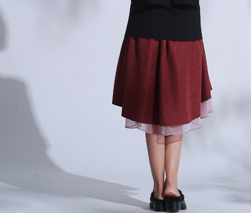 スカートの丈感も自由に調整!