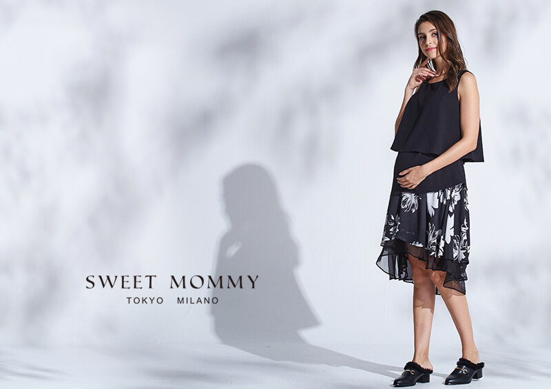 授乳服とマタニティウェアの通信販売スウィートマミーがおすすめするヘムラインのマタニティスカート