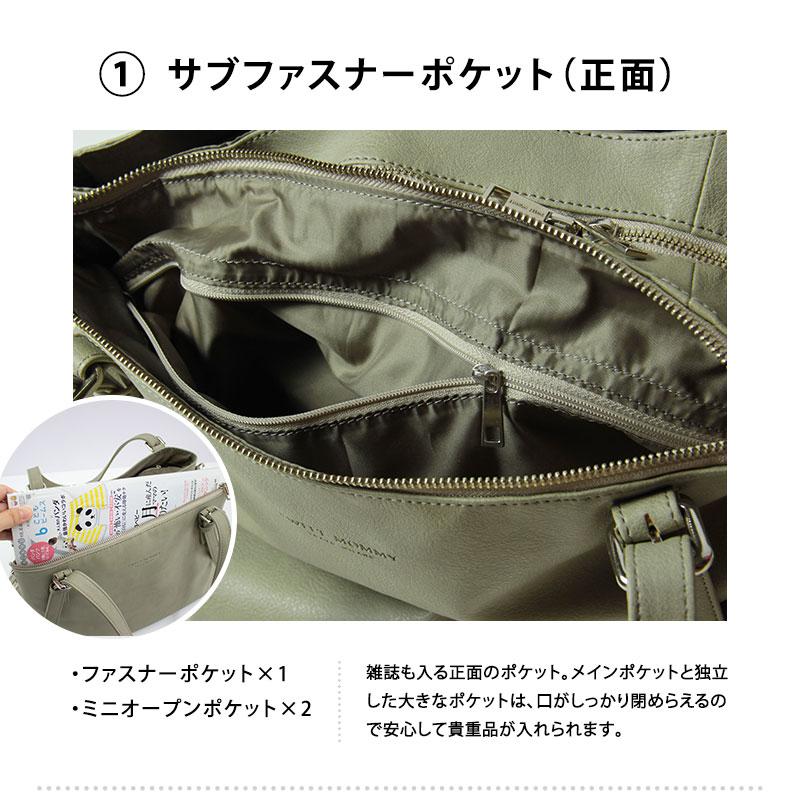 正面のサブファスナーポケット