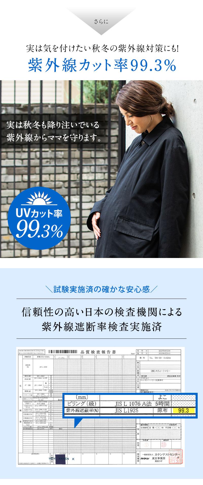 紫外線カット率99.3%
