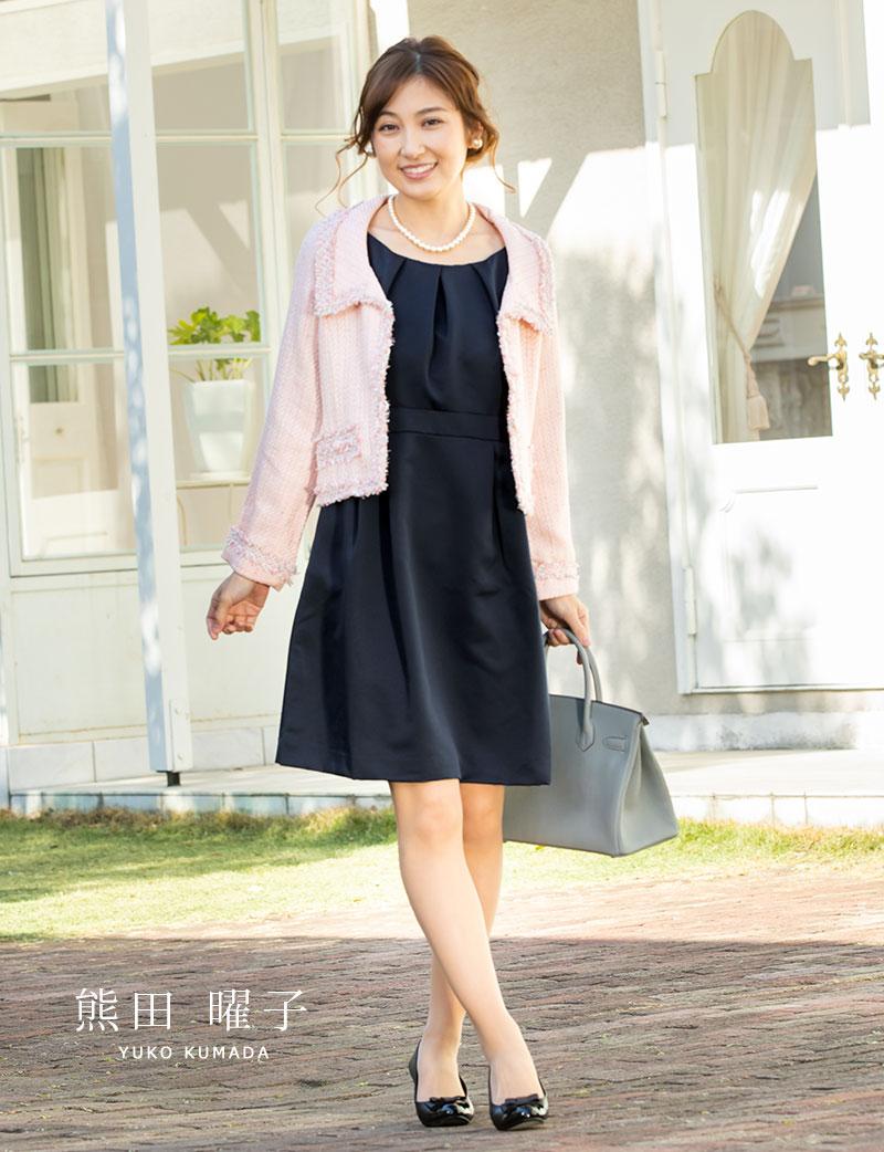 シンプルで美しさを引き出す上質グログラン素材のリュクスな日本製マタニティドレス