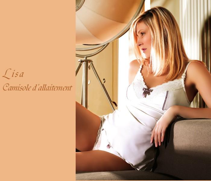 LISA(リサシリーズ)授乳キャミソール 単品 パール マタニティ/出産準備/ショーツ/インナー/下着