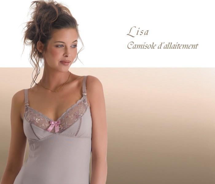 LISA(リサシリーズ)授乳キャミソール 単品 ヴィンテージ マタニティ/出産準備/ショーツ/インナー/下着