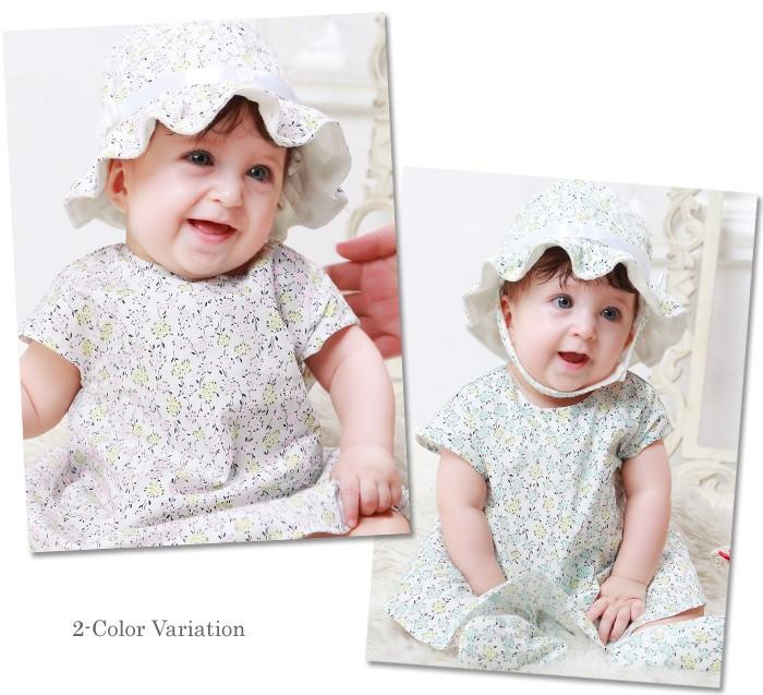 【デザイナーズ ギルド】 小花プリント ベビー帽子 赤ちゃん/ベビーウェア/ベビー 帽子
