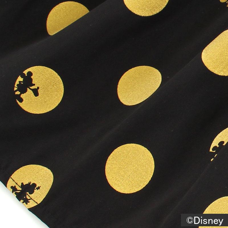 ゴールドのドット柄 ミニーの洋服を連想させながらも、ブラック×ゴールドの配色がシックでおしゃれ。