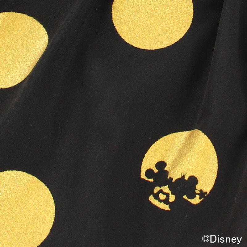 ミニーの洋服を連想させながらも、ブラック×ゴールドの配色がシックでおしゃれ