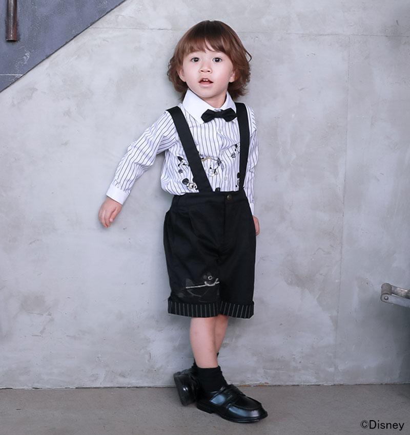 男の子のフォーマルウェア ミッキー刺繍入り 80サイズ 90サイズ 100サイズ