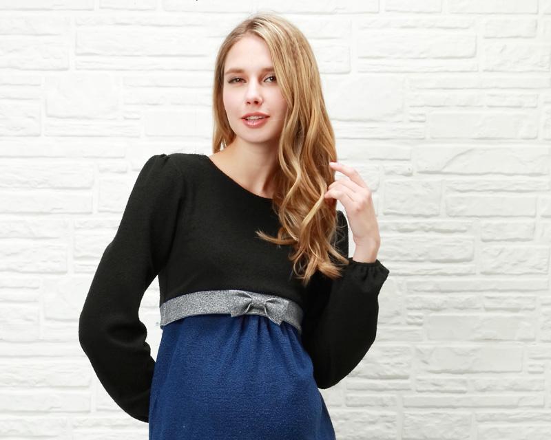 ブルーの妊婦着用イメージ