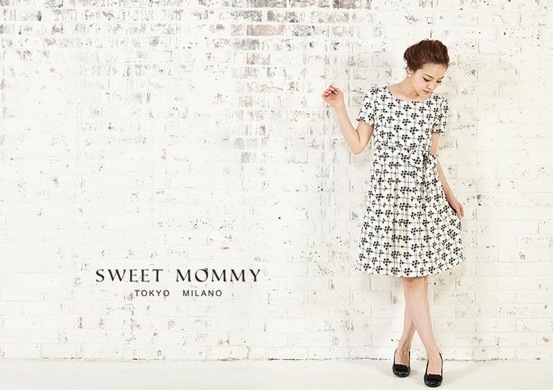 授乳服とマタニティウェアのスウィートマミーがおすすめする千鳥格子柄授乳服ドレス