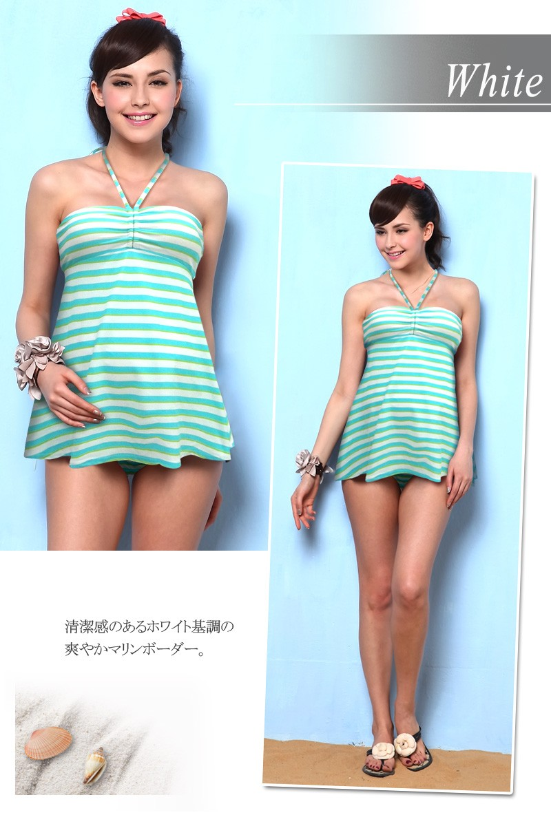 マタニティ水着 産前産後兼用 フロントフリル スイムウェア 授乳服