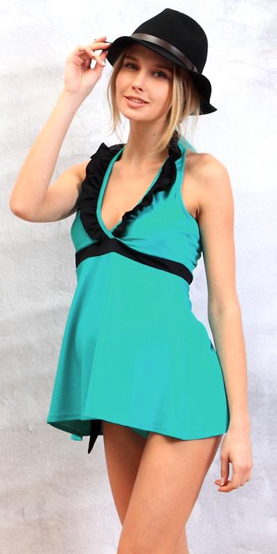 グリーン×ブラックのモデル着用