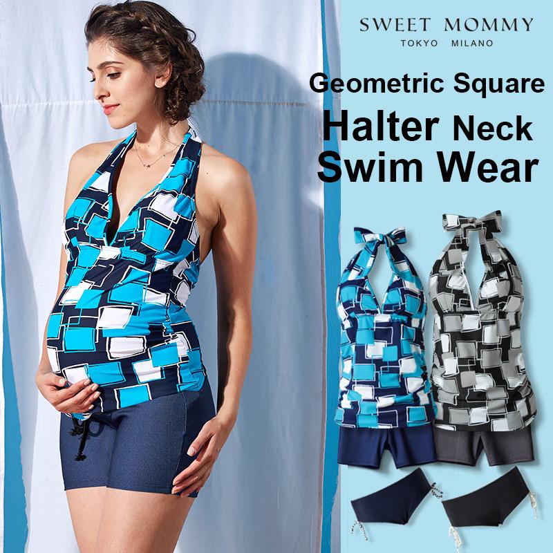 かっこかわいいスイムパンツ付きマタニティ水着のメイン画像