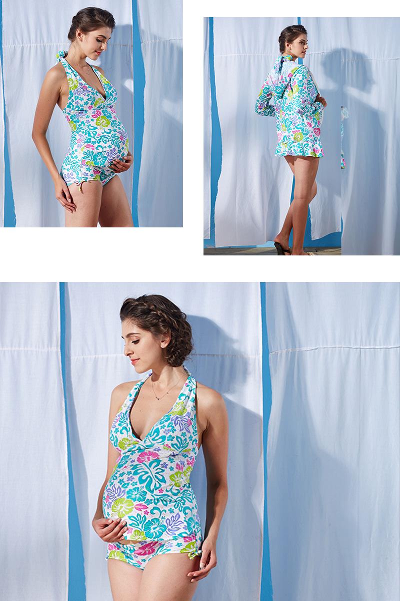 妊娠中から産後まで長く活躍するマタニティ水着