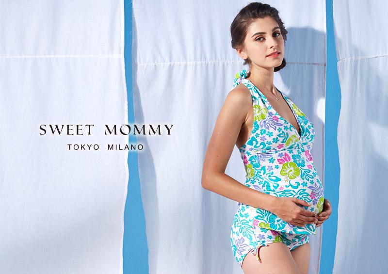 授乳服とマタニティウェアのスウィートマミーがおすすめするプリントマタニティ水着