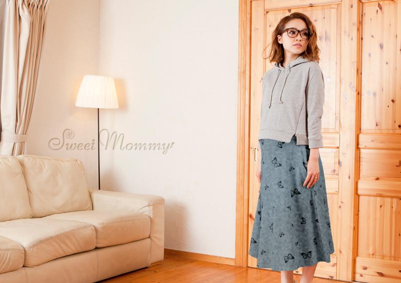 授乳服とマタニティウェアの通販専門店スウィートマミーがおすすめするプレママにおすすめのマキシスカート