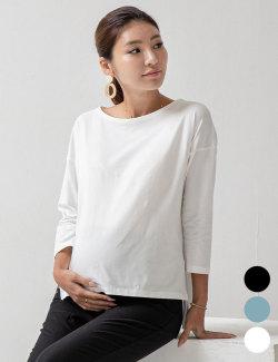ボートネック授乳Tシャツ