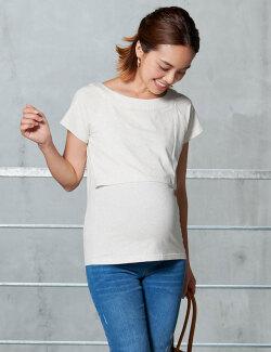 すっきりネックライン授乳Tシャツ