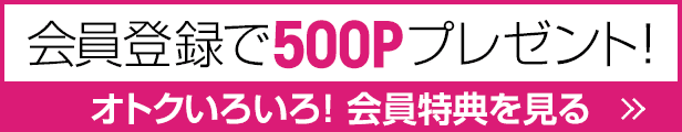 会員登録で500ポイントプレゼント