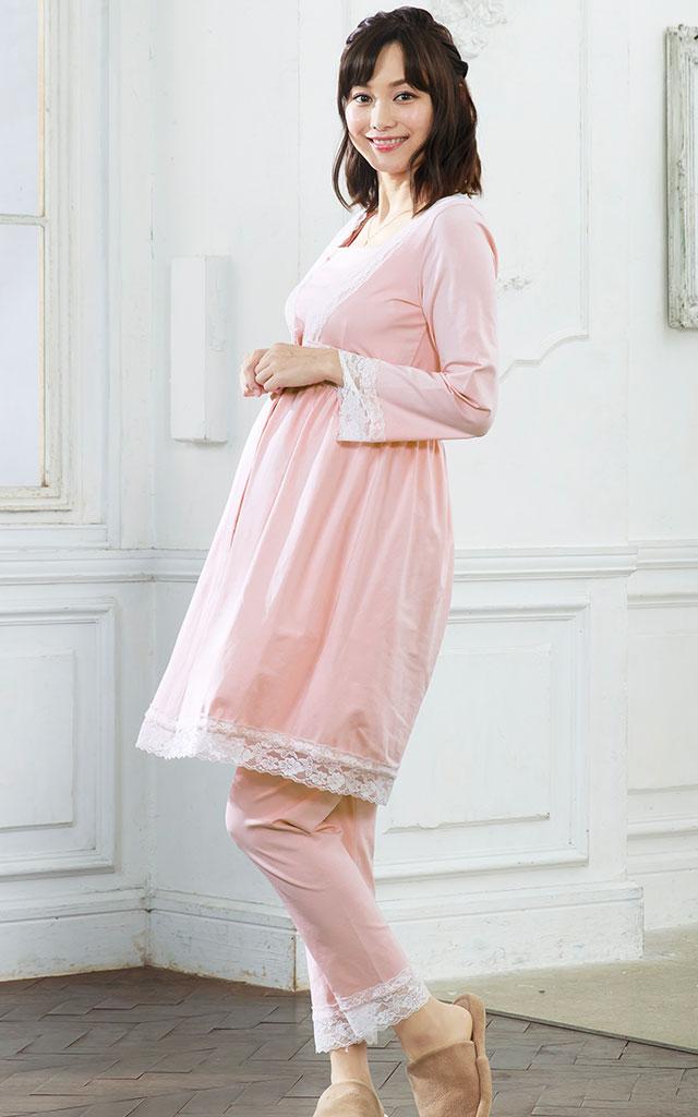 人気読者モデル春名亜美ちゃん着用!産前産後すっきりと着用が可能!