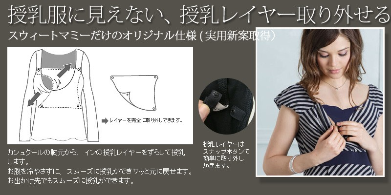 授乳服マタニティ ふんわり ボーダー 授乳 ワンピース 半袖/マタニティウェア