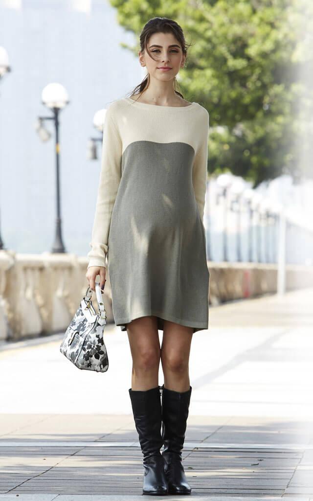 女性らしく可愛いラインで着用できる授乳服