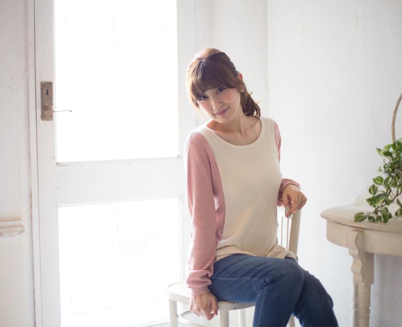 優しい雰囲気で女性らしいラインが叶うニット授乳服