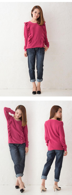 マタニティからOK!伸びの良いニットで着やすい授乳服