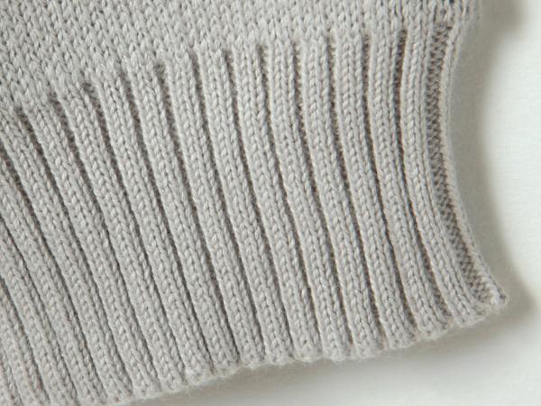 お袖と裾のリブ編み