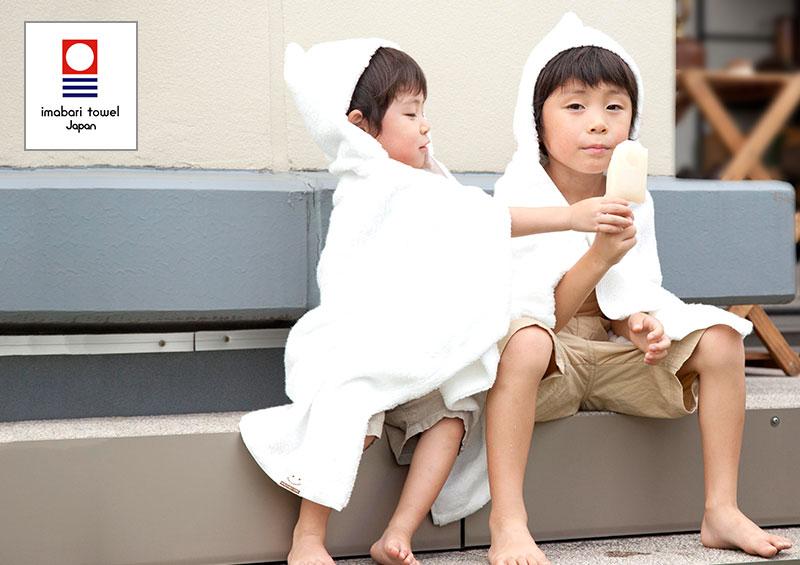 世界一のタオル、フード付きミニバスタオル