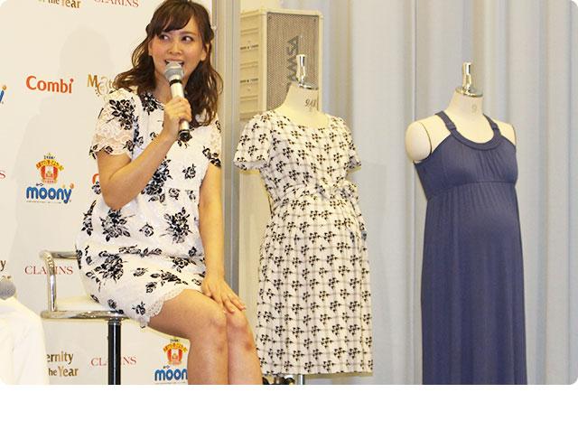 トークショーでは商品の魅力やママとしての決意など語られていました。