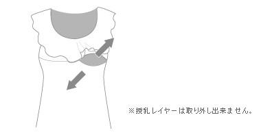 授乳口付き花柄フリルサロペット